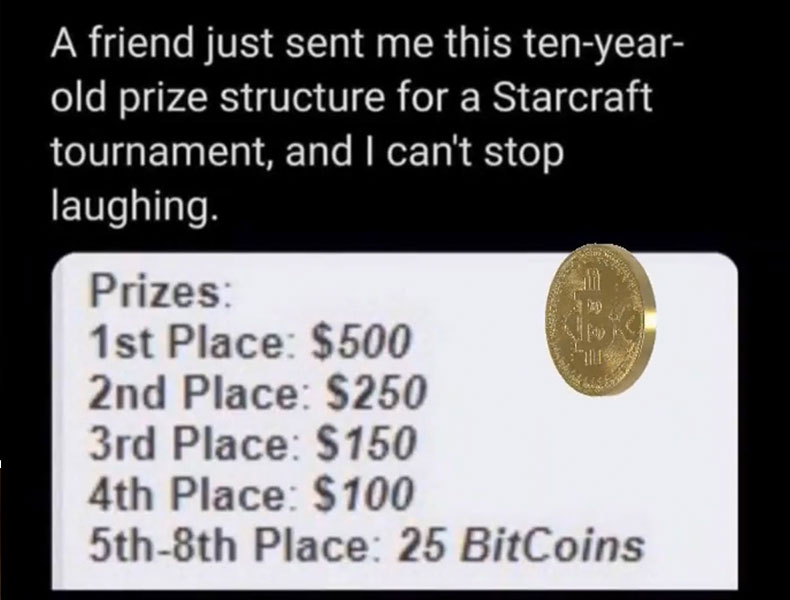 Starcraft 25 Bitcoins Preisgeld
